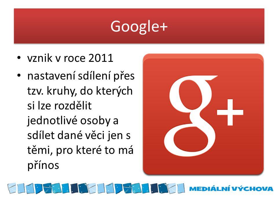 Google+ vznik v roce 2011.