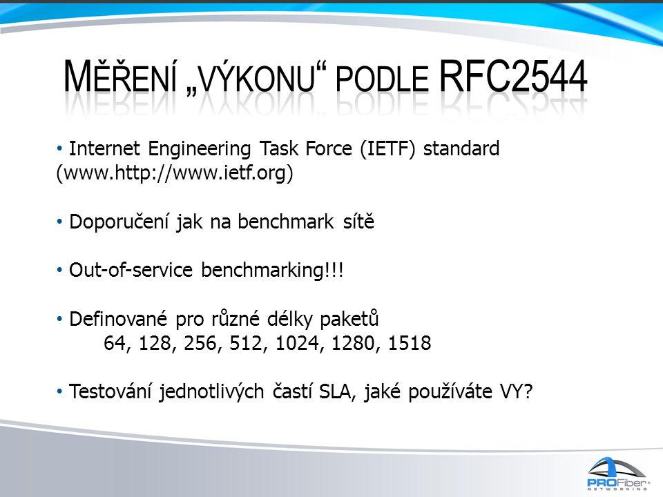 """Měření """"výkonu podle RFC2544"""