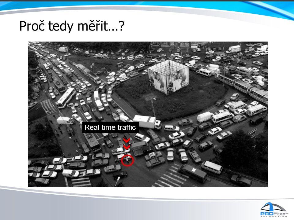 Proč tedy měřit… Real time traffic