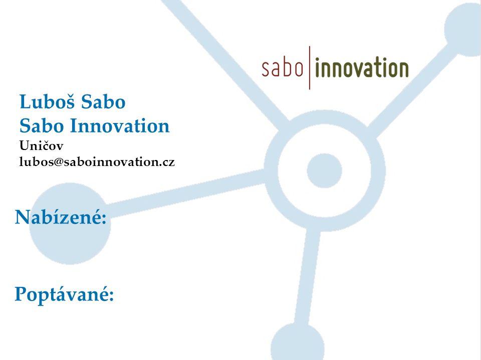 Luboš Sabo Sabo Innovation Nabízené: Poptávané: Uničov