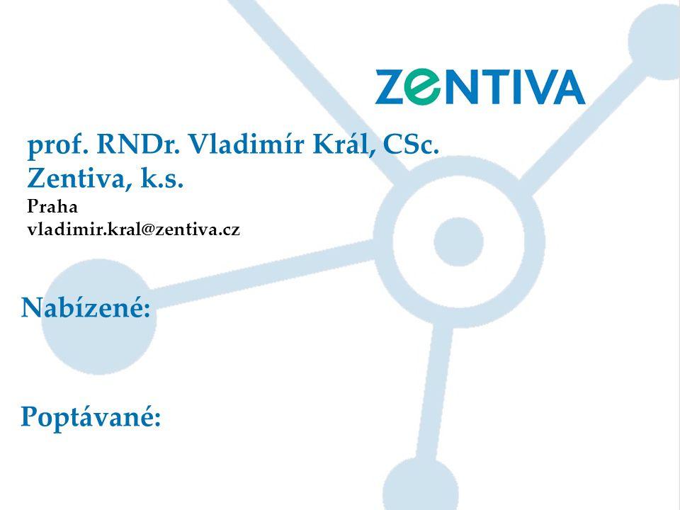 prof. RNDr. Vladimír Král, CSc. Zentiva, k.s.