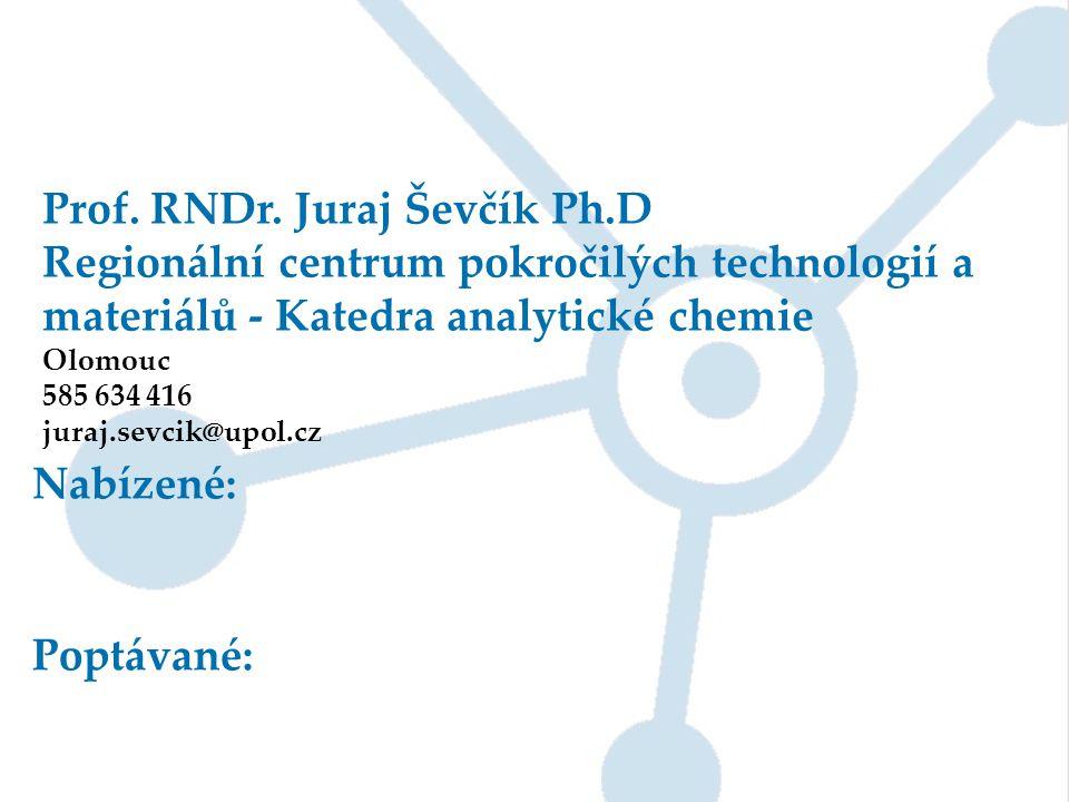 Prof. RNDr. Juraj Ševčík Ph.D