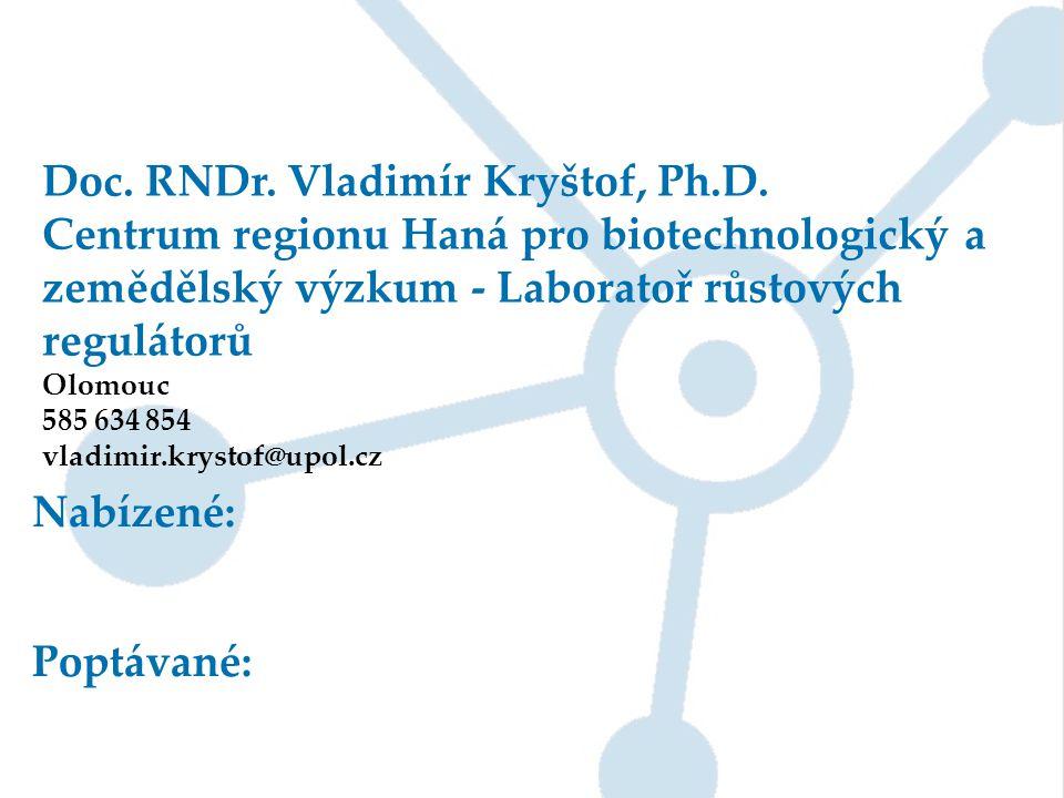 Doc. RNDr. Vladimír Kryštof, Ph.D.