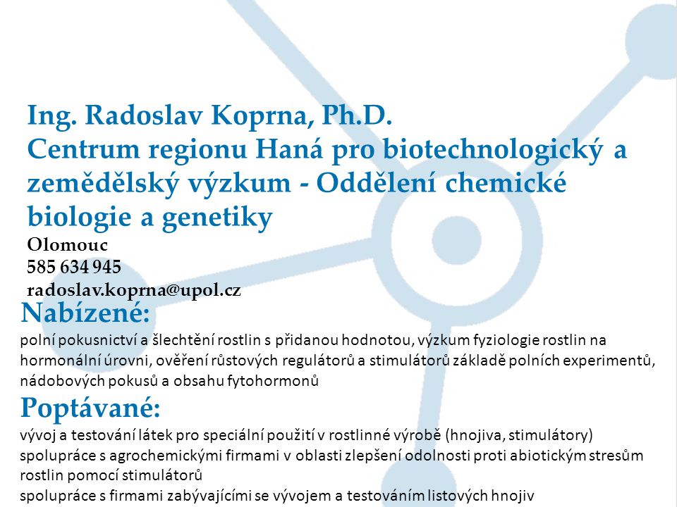 Ing. Radoslav Koprna, Ph.D.