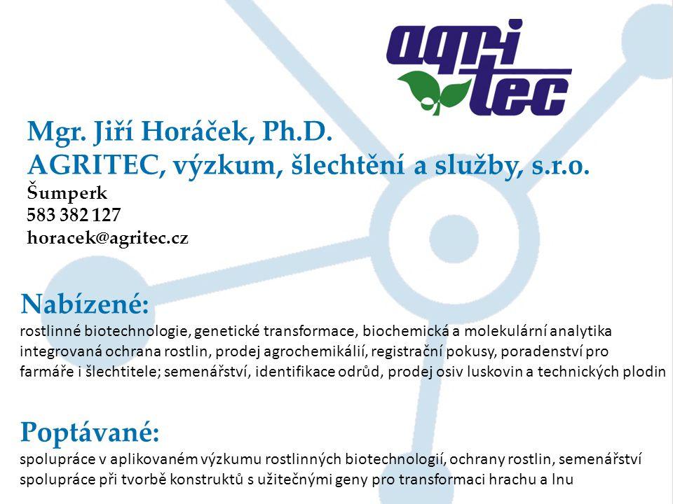 AGRITEC, výzkum, šlechtění a služby, s.r.o.