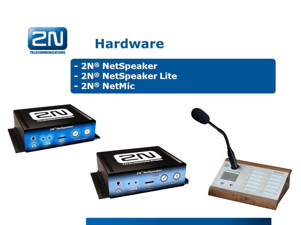 Hardware - 2N® NetSpeaker - 2N® NetSpeaker Lite - 2N® NetMic