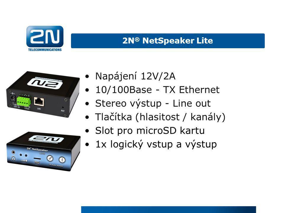 Stereo výstup - Line out Tlačítka (hlasitost / kanály)