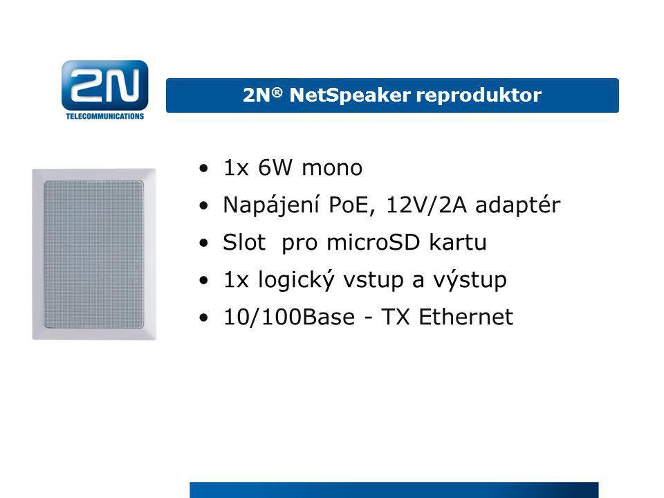 2N® NetSpeaker reproduktor