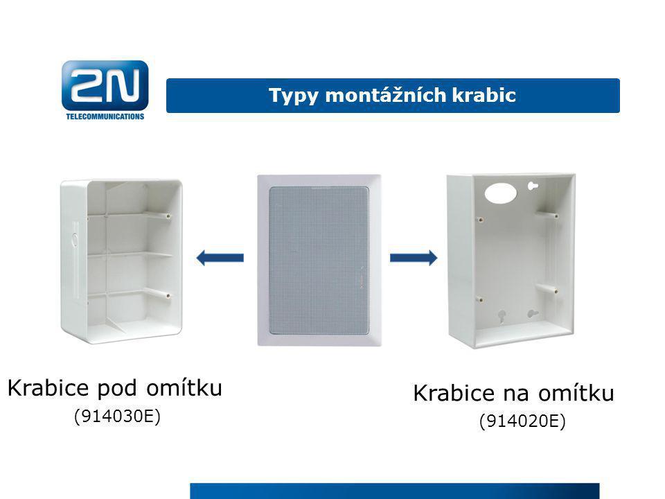Typy montážních krabic