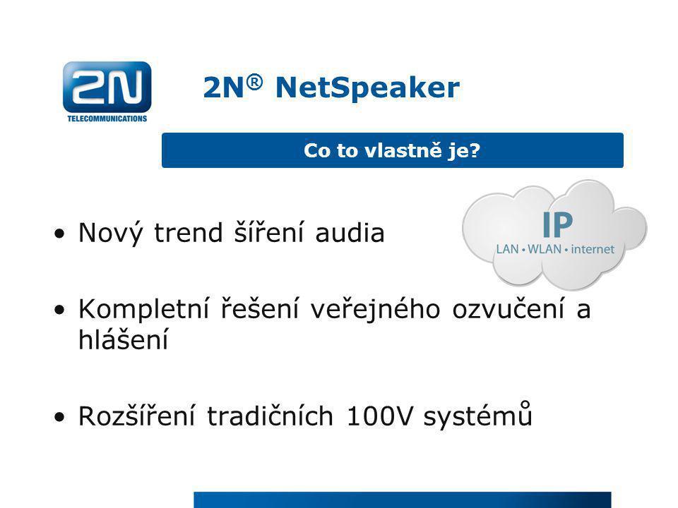 2N® NetSpeaker Nový trend šíření audia
