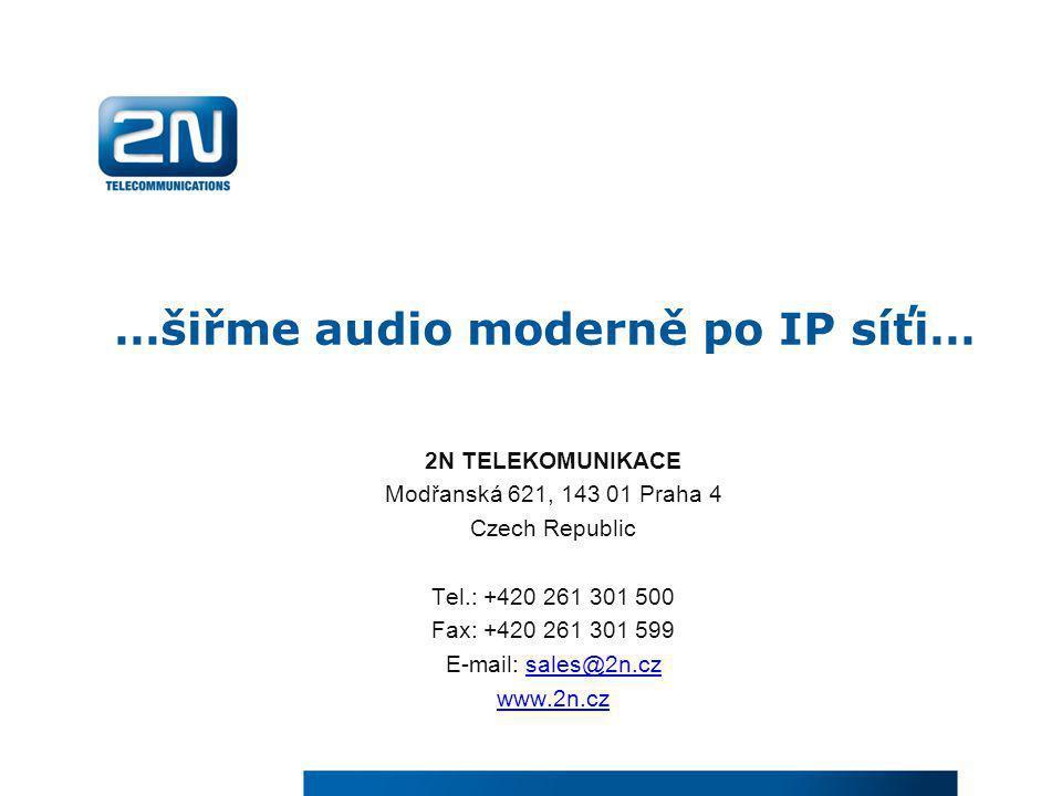 …šiřme audio moderně po IP síťi…