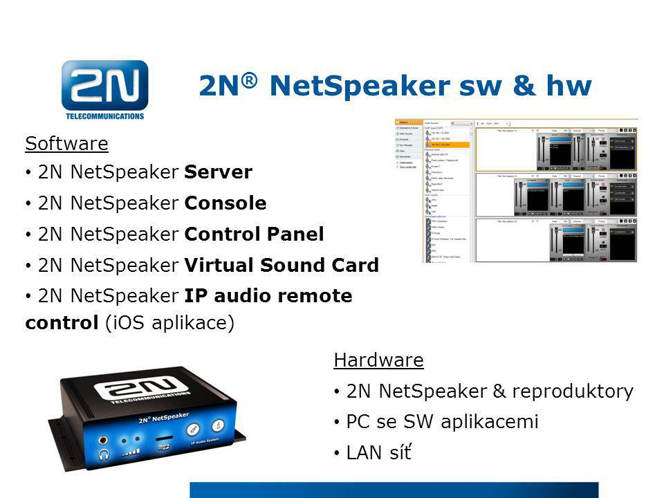 2N® NetSpeaker sw & hw Software 2N NetSpeaker Server