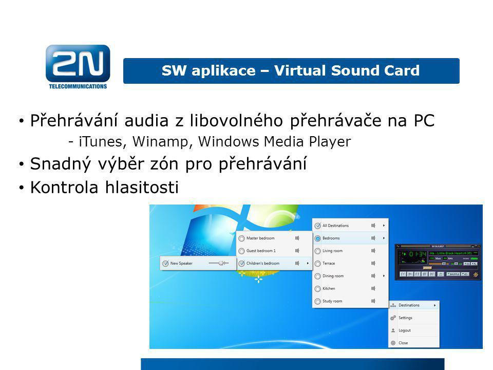 SW aplikace – Virtual Sound Card