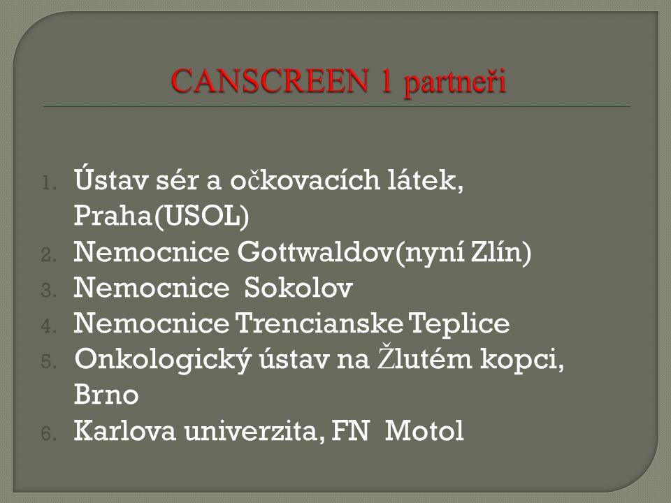CANSCREEN 1 partneři Ústav sér a očkovacích látek, Praha(USOL)