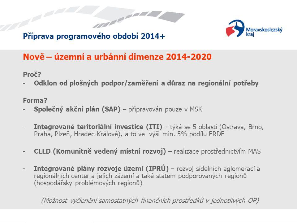 Nově – územní a urbánní dimenze 2014-2020