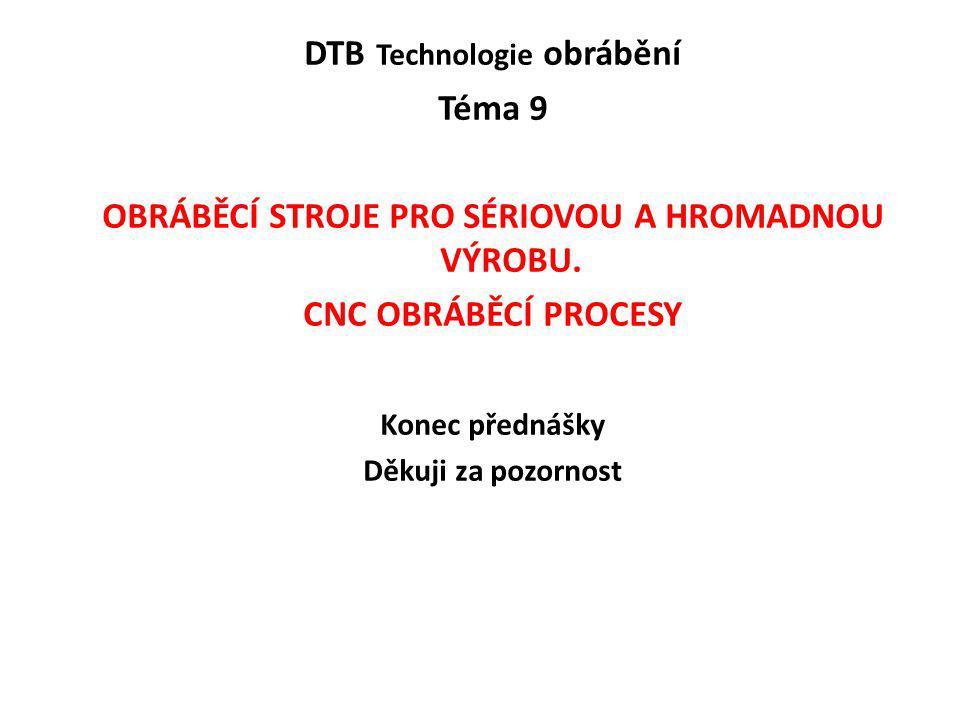 DTB Technologie obrábění Téma 9