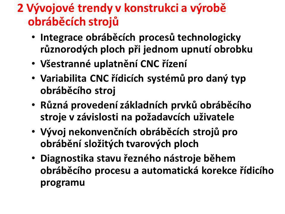 2 Vývojové trendy v konstrukci a výrobě obráběcích strojů