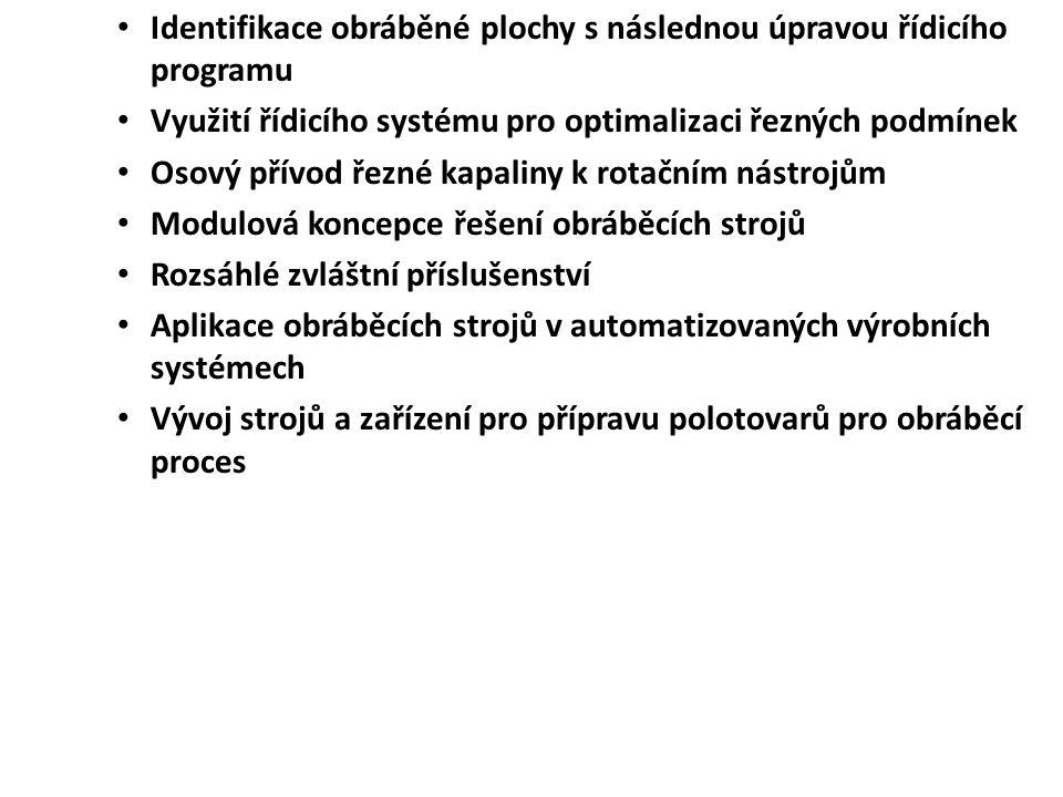 Identifikace obráběné plochy s následnou úpravou řídicího programu