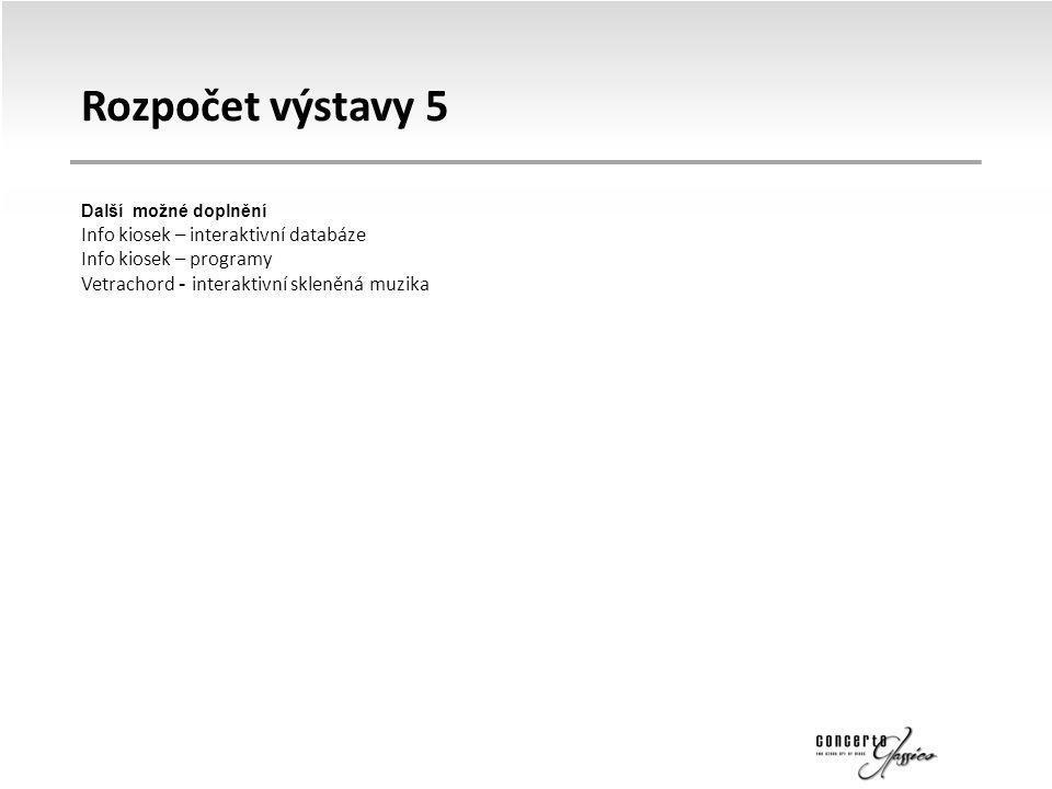 Rozpočet výstavy 5 Info kiosek – interaktivní databáze