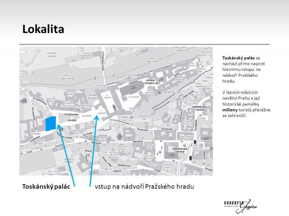 Lokalita Toskánský palác vstup na nádvoří Pražského hradu