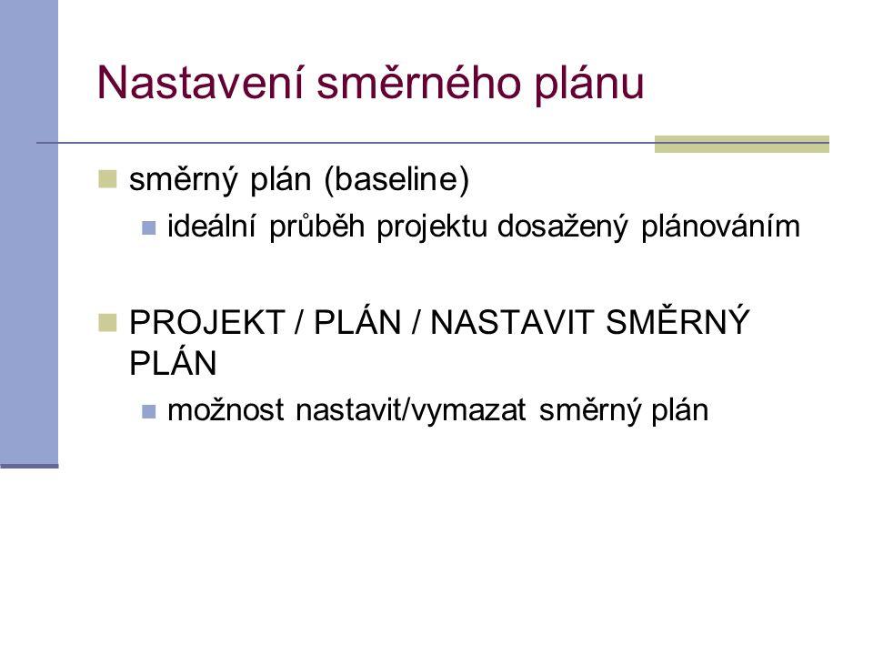 Nastavení směrného plánu