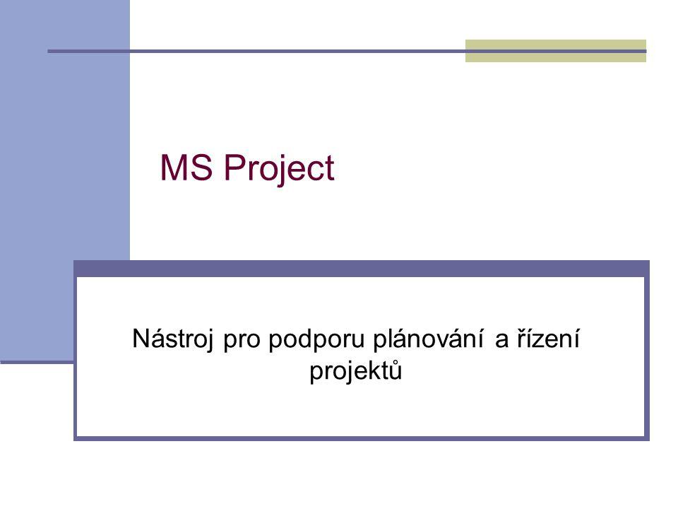 Nástroj pro podporu plánování a řízení projektů