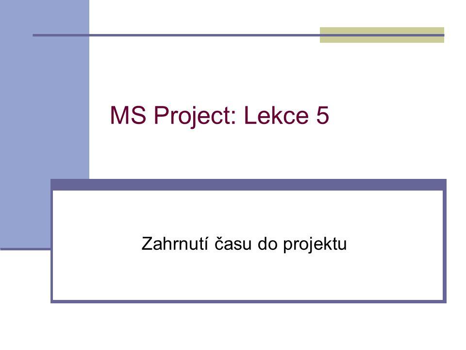 Zahrnutí času do projektu