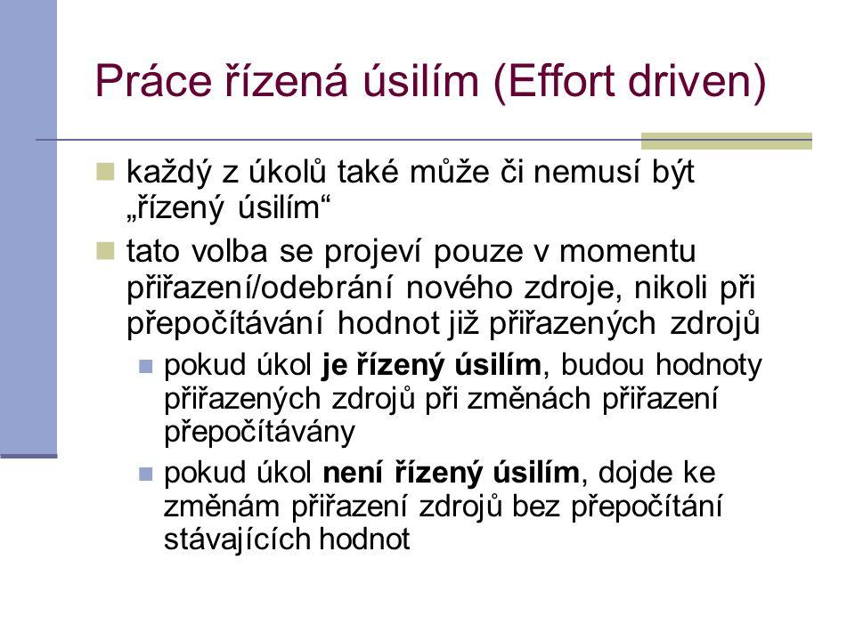 Práce řízená úsilím (Effort driven)