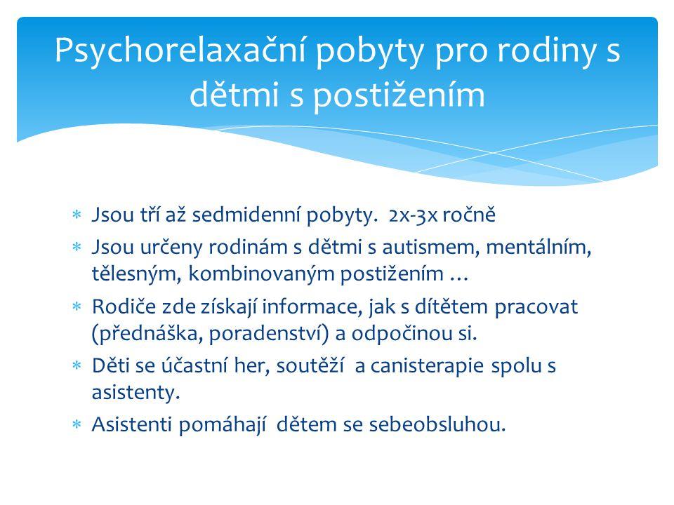 Psychorelaxační pobyty pro rodiny s dětmi s postižením