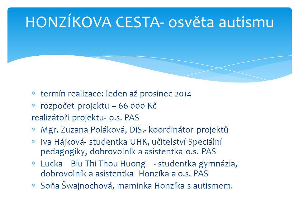 HONZÍKOVA CESTA- osvěta autismu
