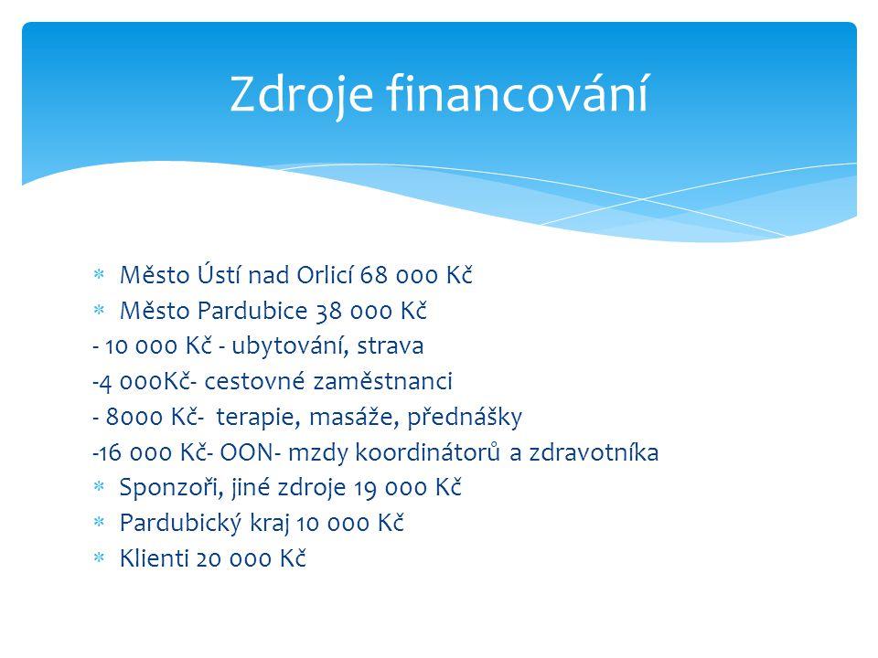 Zdroje financování Město Ústí nad Orlicí 68 000 Kč