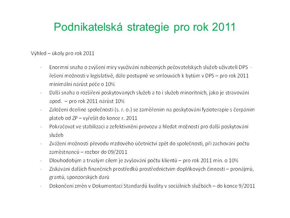 Podnikatelská strategie pro rok 2011