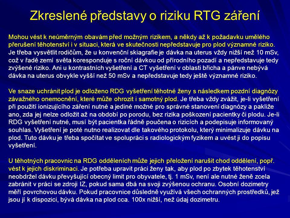 Zkreslené představy o riziku RTG záření