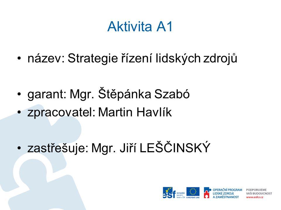 Aktivita A1 název: Strategie řízení lidských zdrojů