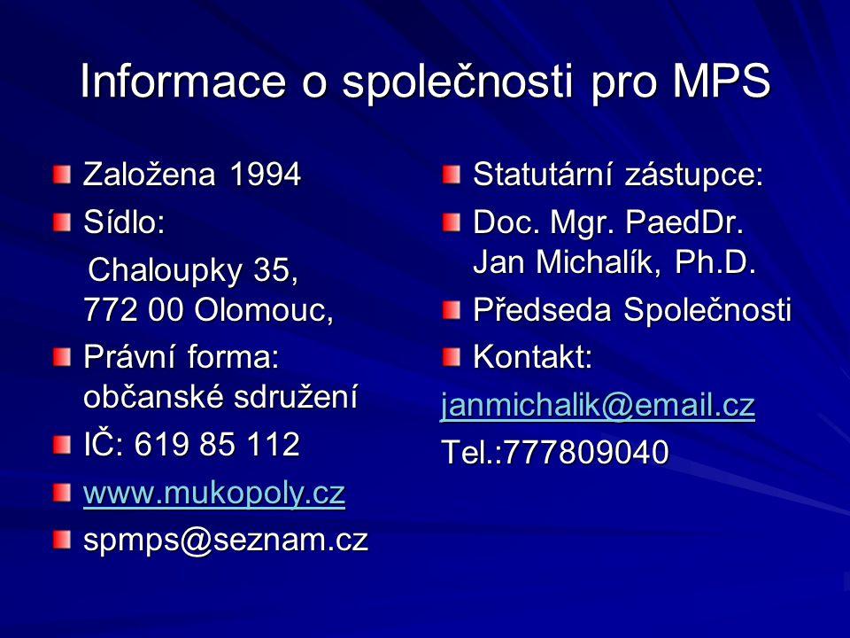 Informace o společnosti pro MPS