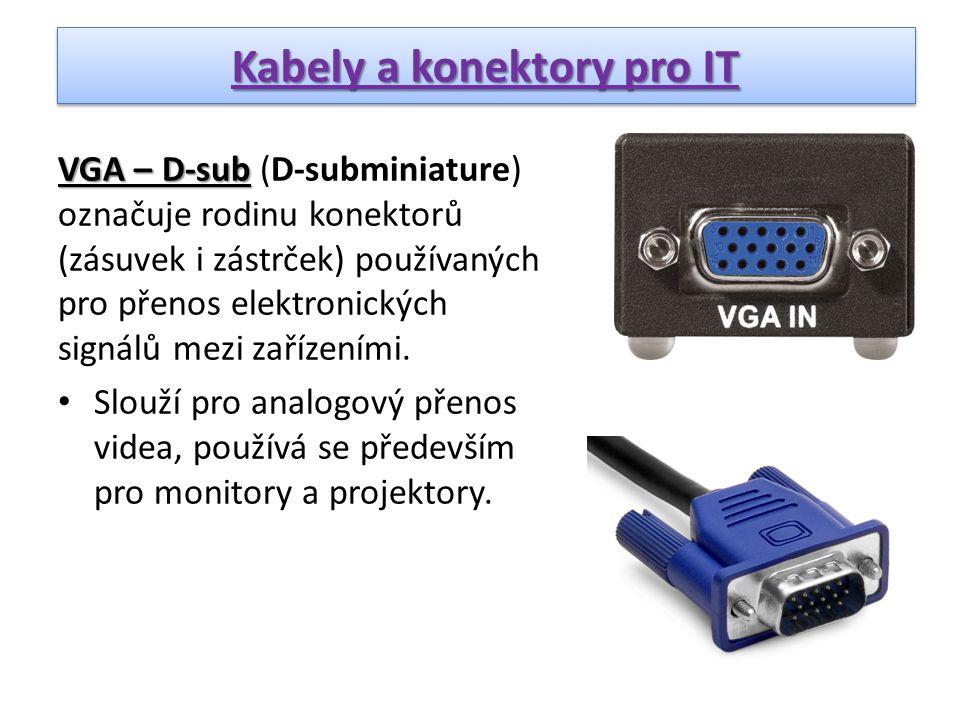 Kabely a konektory pro IT