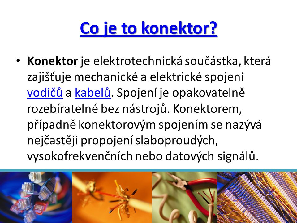Co je to konektor