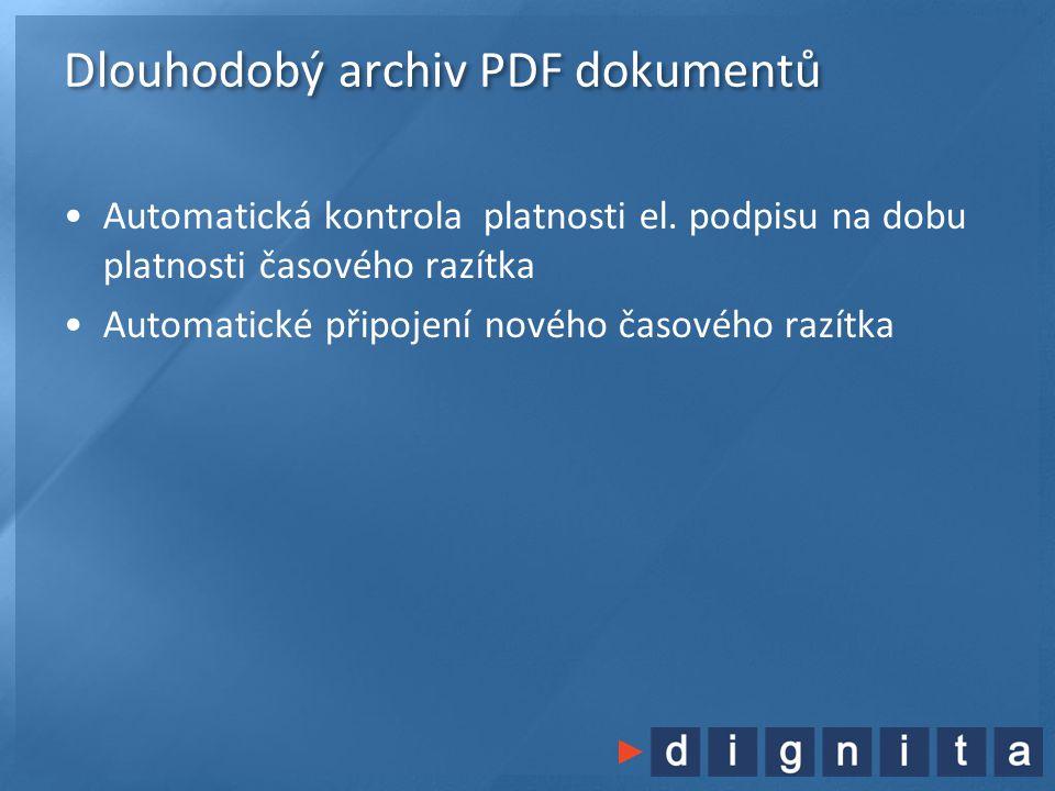Dlouhodobý archiv PDF dokumentů