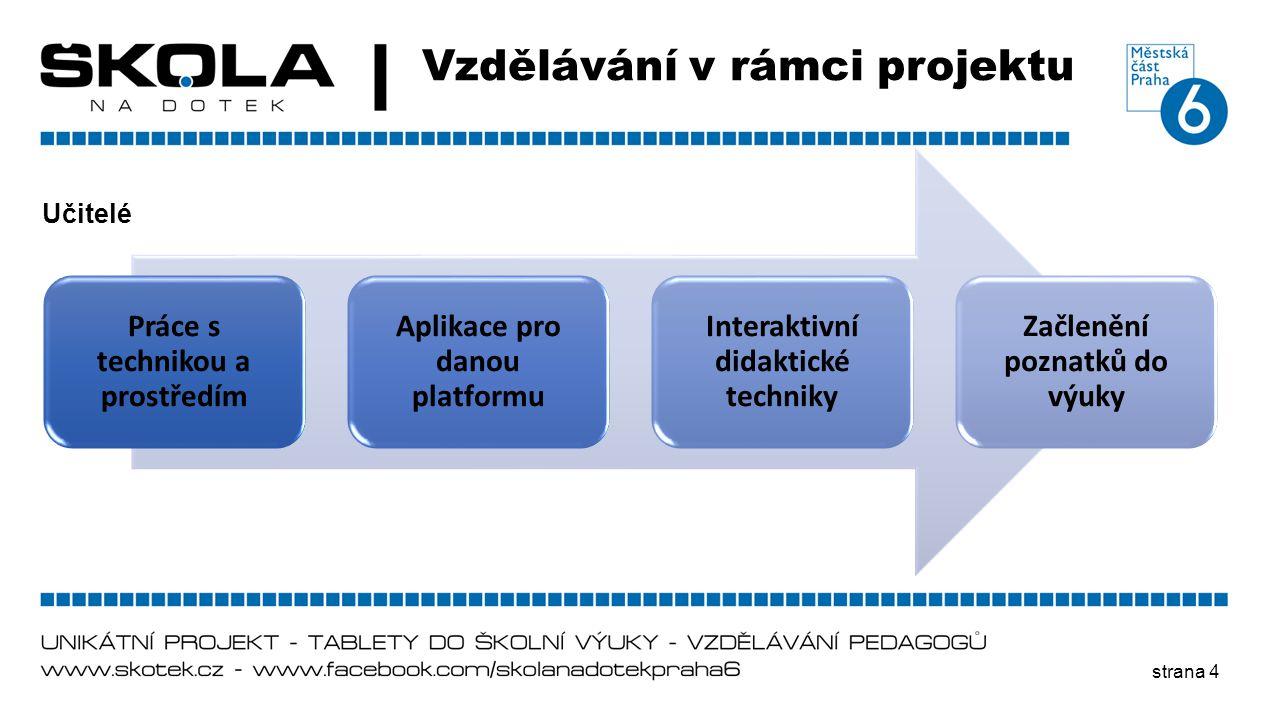 Vzdělávání v rámci projektu