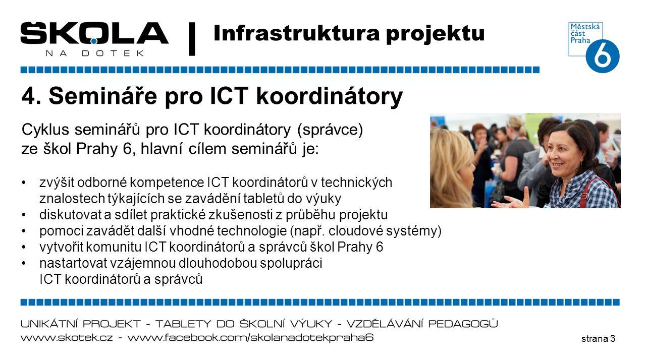 4. Semináře pro ICT koordinátory