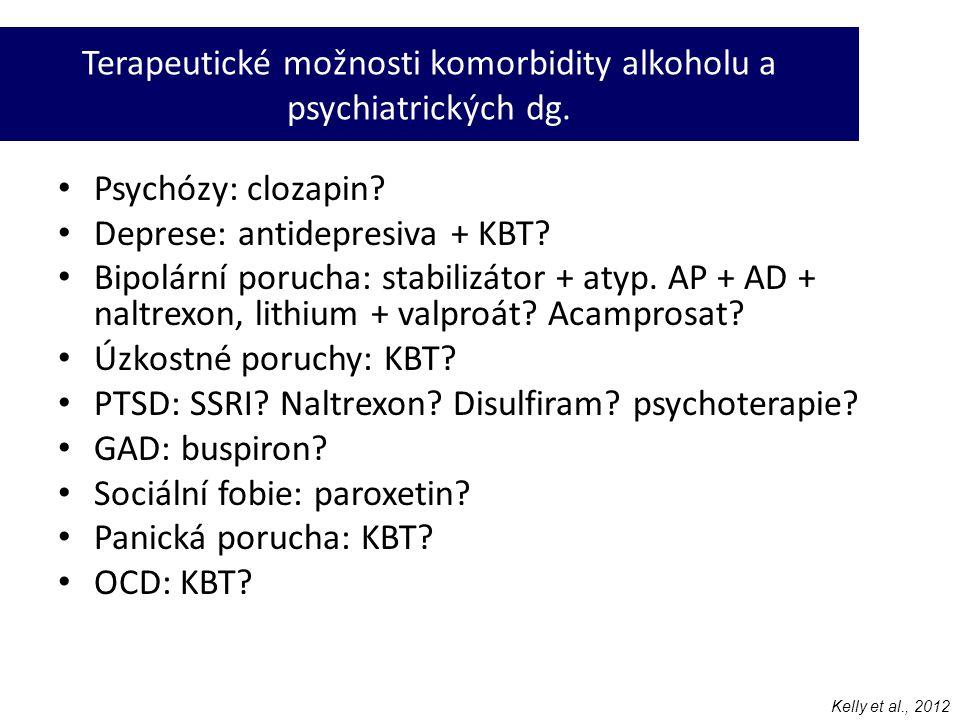 Terapeutické možnosti komorbidity alkoholu a psychiatrických dg.
