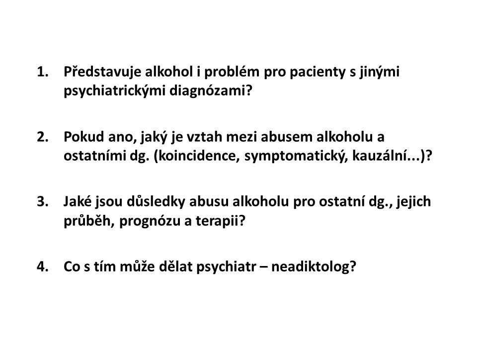 Představuje alkohol i problém pro pacienty s jinými psychiatrickými diagnózami