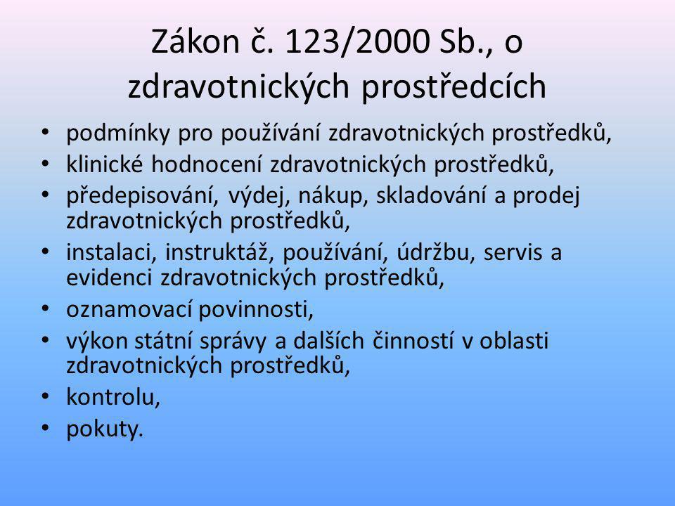Zákon č. 123/2000 Sb., o zdravotnických prostředcích