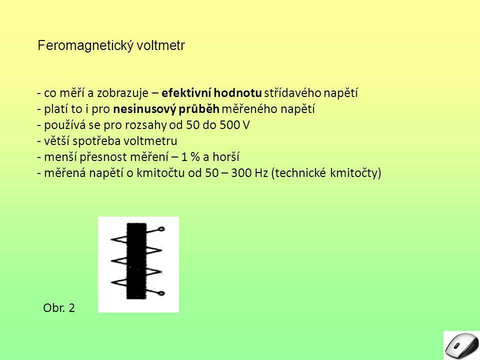 Feromagnetický voltmetr