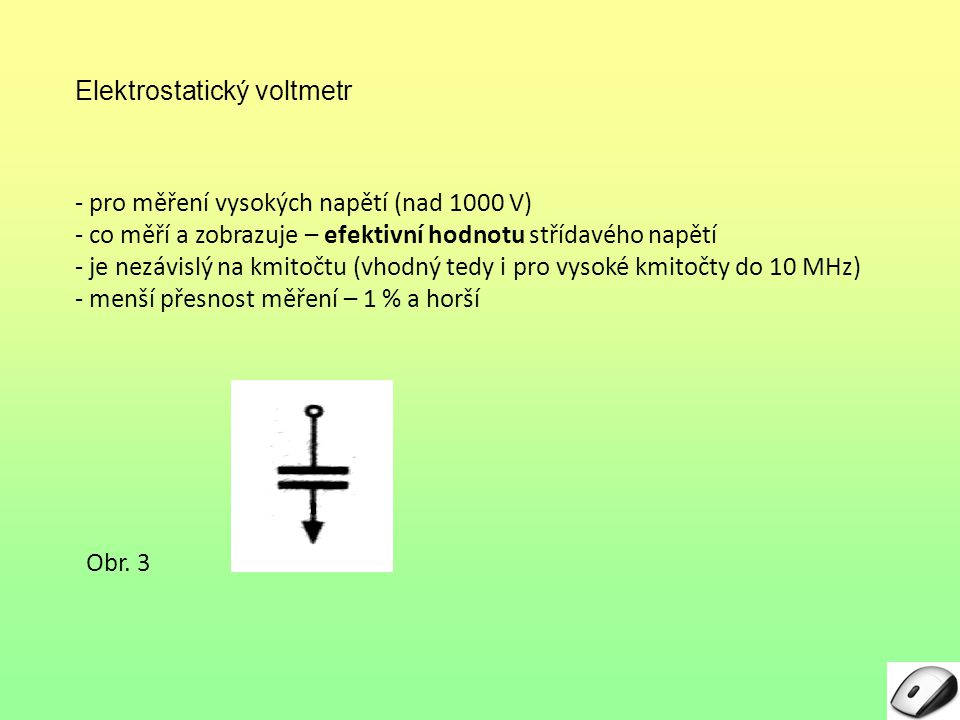 Elektrostatický voltmetr