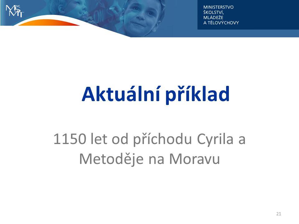 1150 let od příchodu Cyrila a Metoděje na Moravu