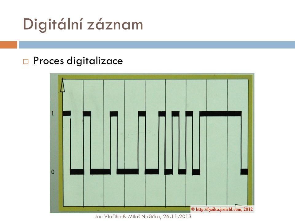 Digitální záznam Proces digitalizace