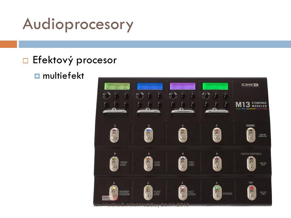 Audioprocesory Efektový procesor multiefekt