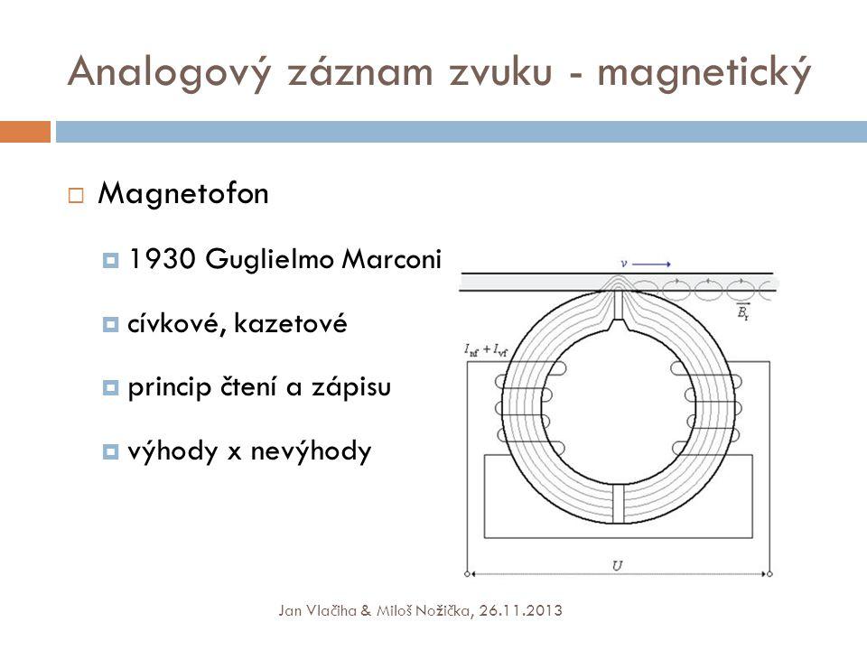 Analogový záznam zvuku - magnetický