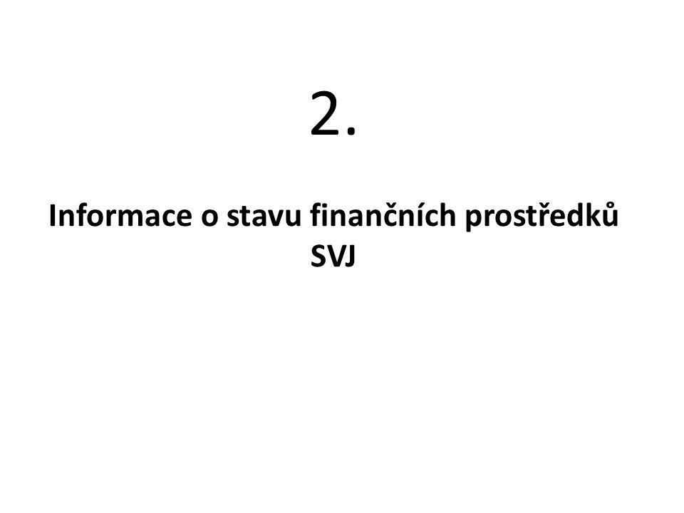 Informace o stavu finančních prostředků SVJ